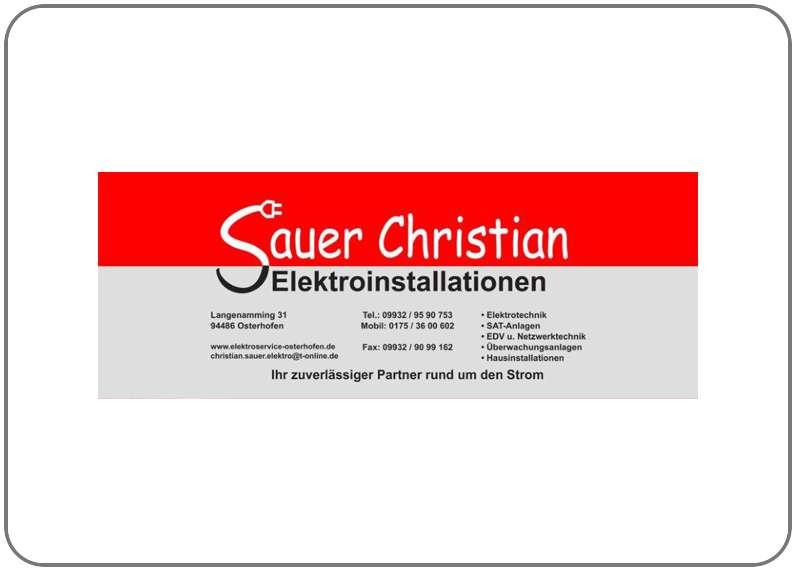 Elektroinstallationen Sauer