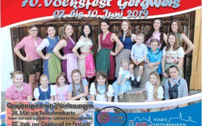 Gewinnspiel zum Volksfest Gergweis