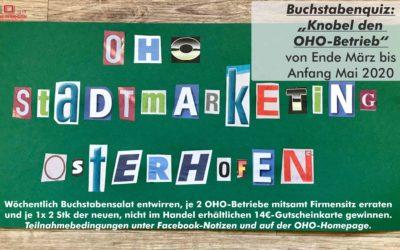 Buchstabenquiz Knobel den OHO-Betrieb