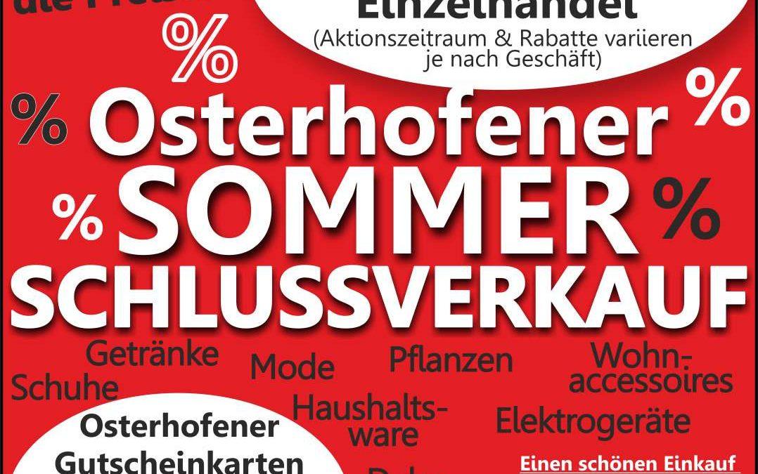Osterhofener Sommerschlussverkauf 2020