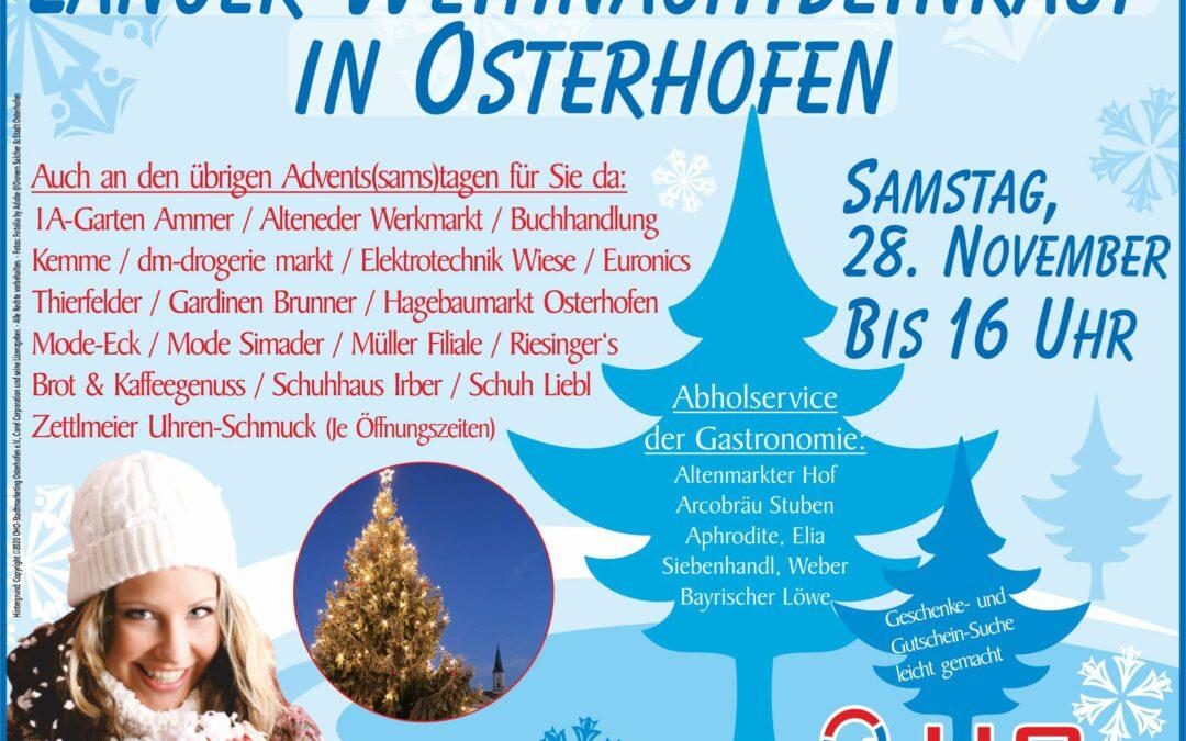 Langer Weihnachtseinkauf in Osterhofen